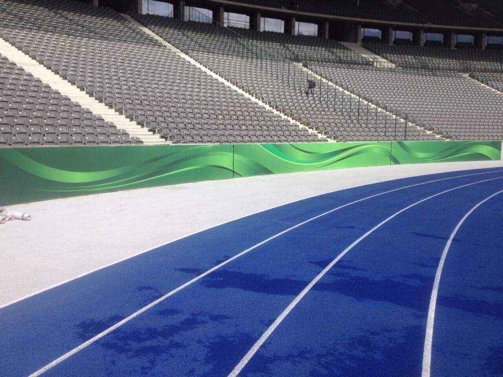 Venue-Dressing - Stadion-Dekoration - DFB-Pokal 2015